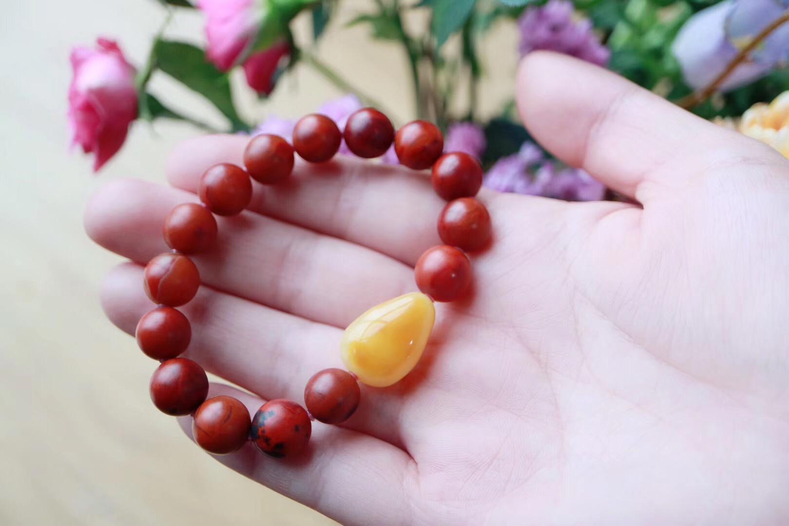 【菩心 - 包浆南红】光润釉滑的别样质感,还会越盘越红-菩心晶舍