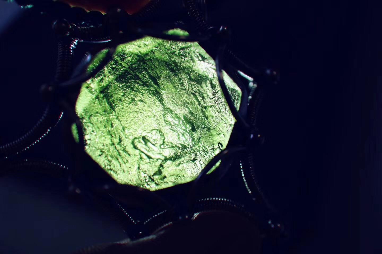 【菩心-捷克陨石】Mer-Ka-Ba图腾的捷克陨石配上菩心经典的蕾丝复古戒,酷~-菩心晶舍
