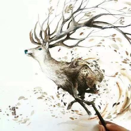 【菩心·钛晶】🦌🦌鹿踏雾而来,鲸随浪涌起,余生终遇见你-菩心晶舍