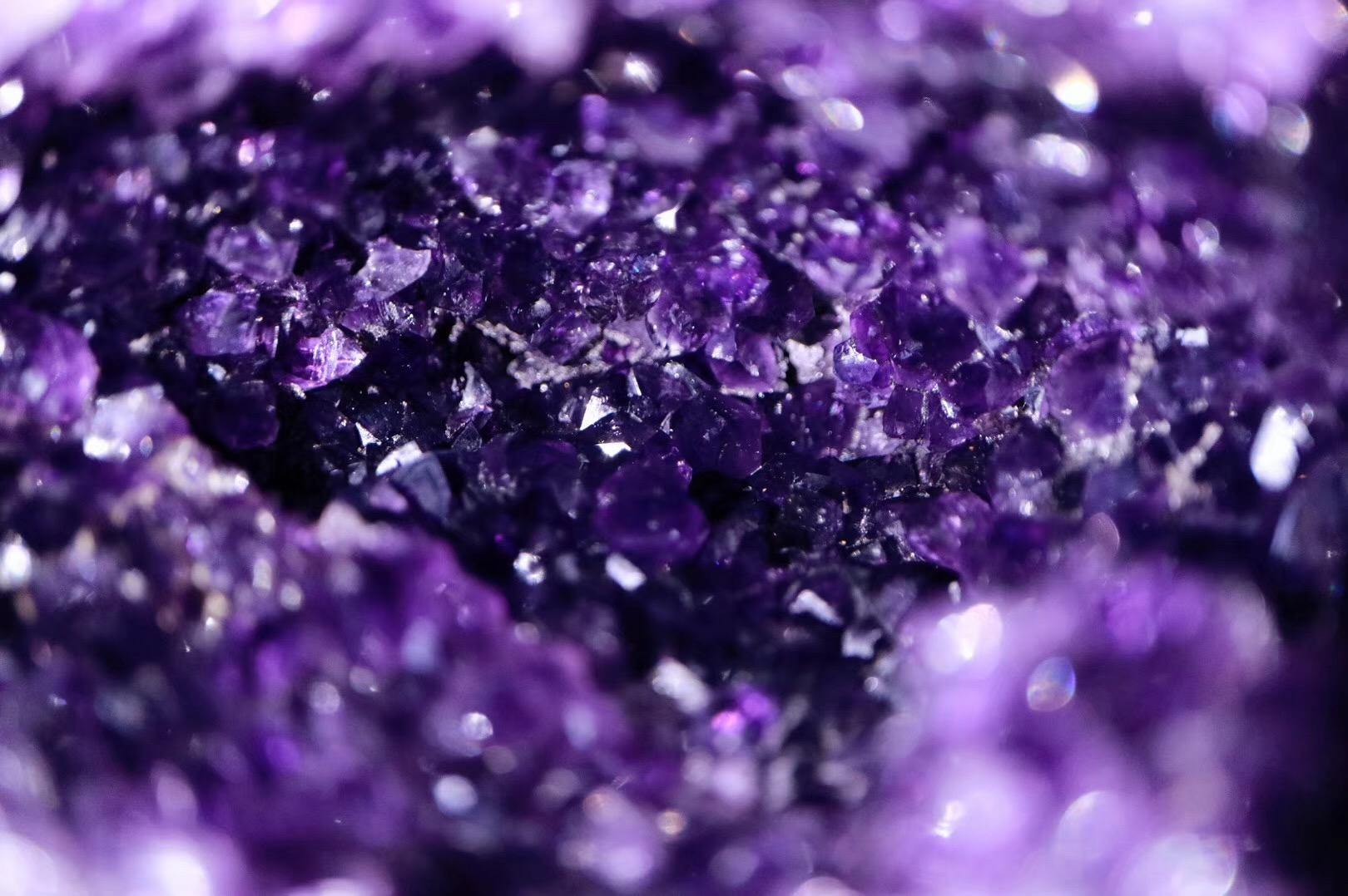 【菩心乌拉圭紫晶洞】极品乌拉圭小晶洞,形如智慧之眼,极具灵气-菩心晶舍