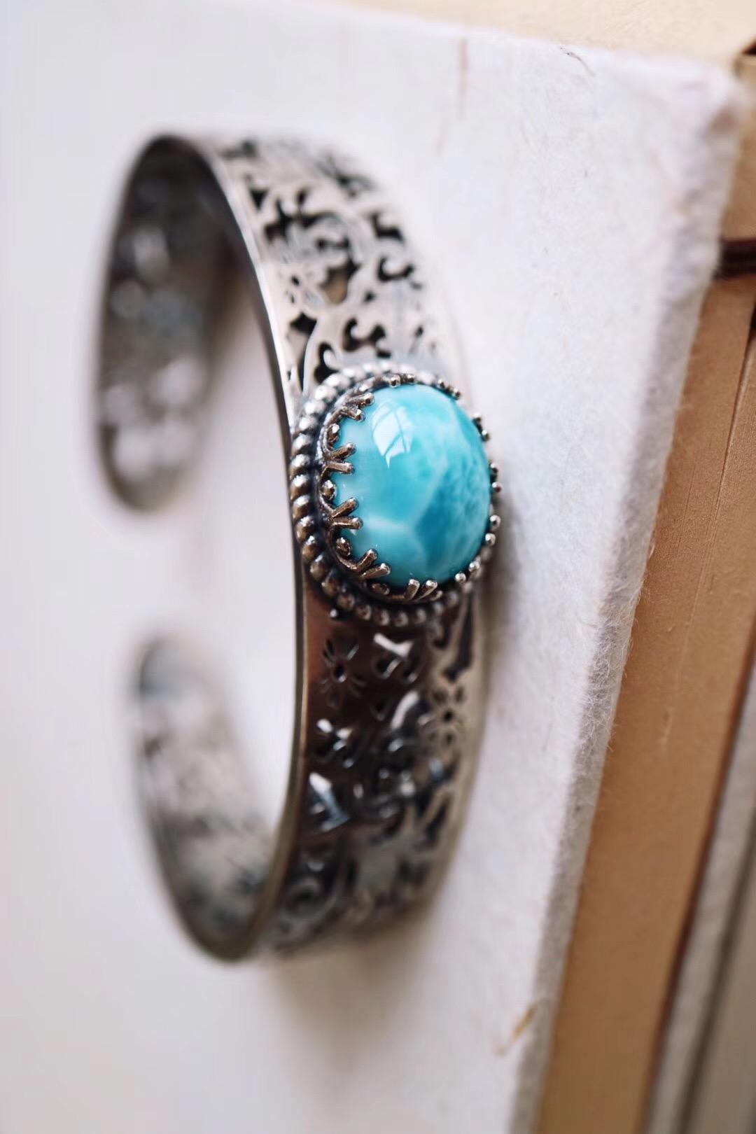 【菩心-海纹石&客订】古代称手镯为跳脱-菩心晶舍