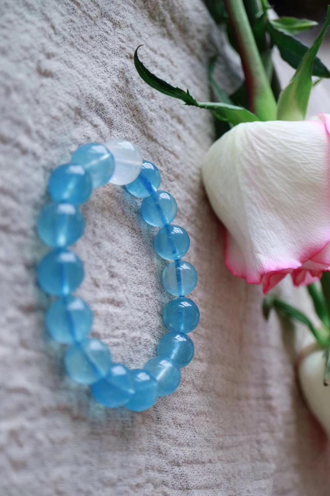 【菩心海蓝宝 | 月光石】地中海式的湛蓝,一眼望去,就是那样的迷人-菩心晶舍