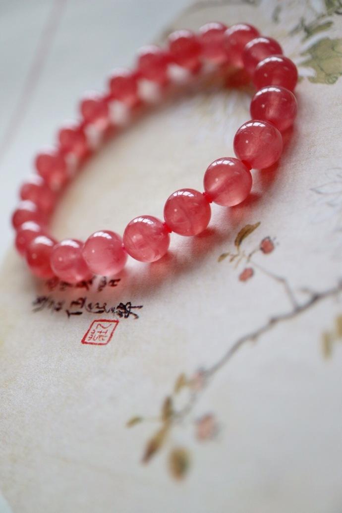 【冰种红纹石】女人都应该有一枚红纹石-菩心晶舍