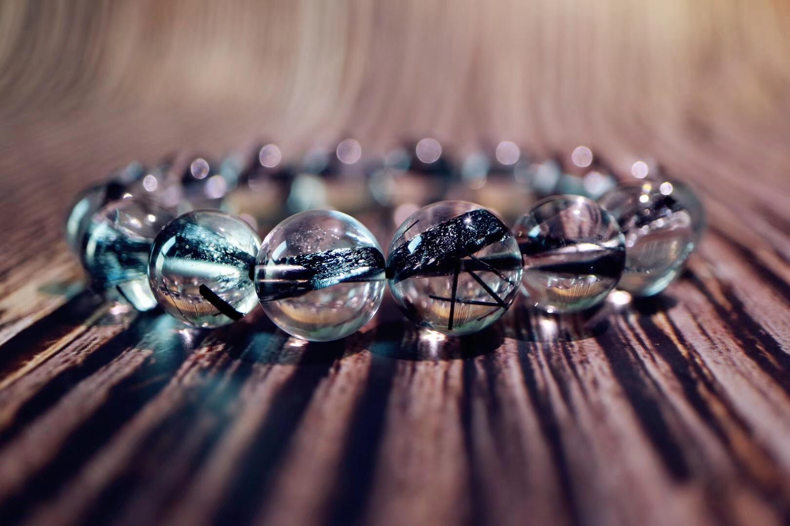 【炫酷黑发晶】黑发晶以消除负性能量著称,佩戴可以消除身上不良浊气-菩心晶舍