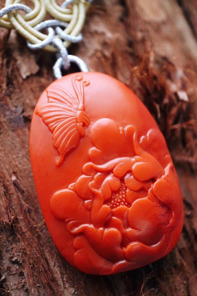 【菩心-蝶恋花·南红玛瑙】 (保山-南红玛瑙)戴上它,必然神清气爽-菩心晶舍