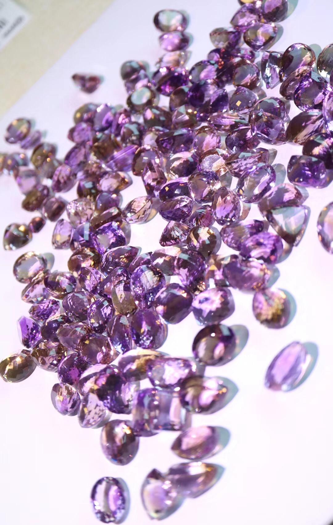 【菩心-紫黄晶】奉上一波紫黄晶裸钻,有想法的宝宝先选哦-菩心晶舍