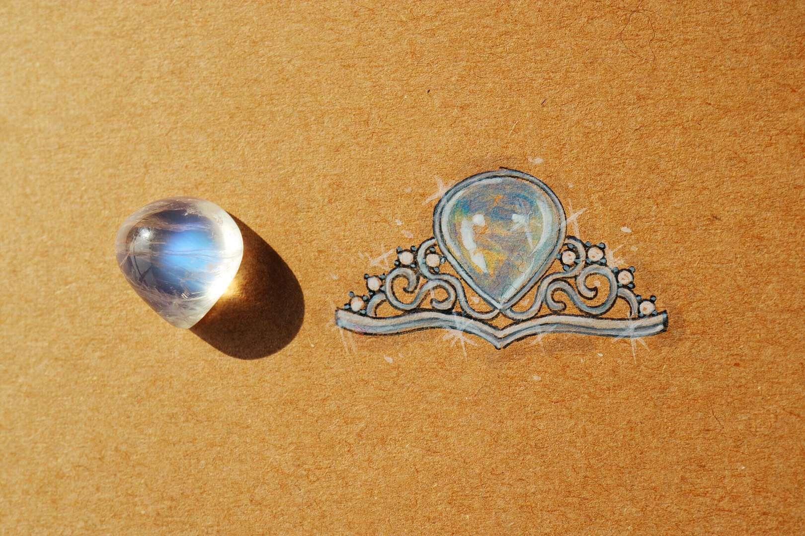 【菩心-月光石】月光石对于伤疤的疗愈,也是杠杠的-菩心晶舍