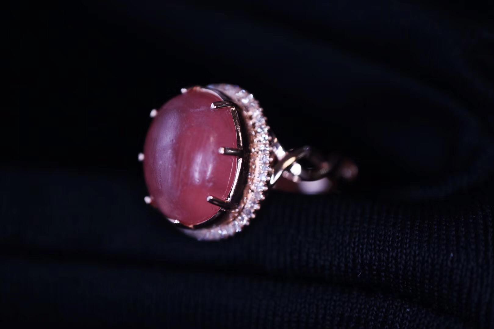 【菩心·红纹石】红纹石戒戴久了,面上会像珊瑚一样雾化-菩心晶舍