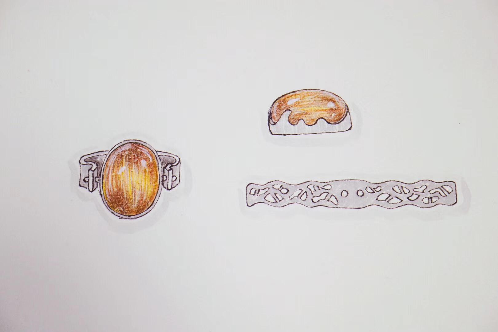 【菩心-铜发晶】如此大的铜发晶,做个吊坠戒指两用,甚好甚好-菩心晶舍
