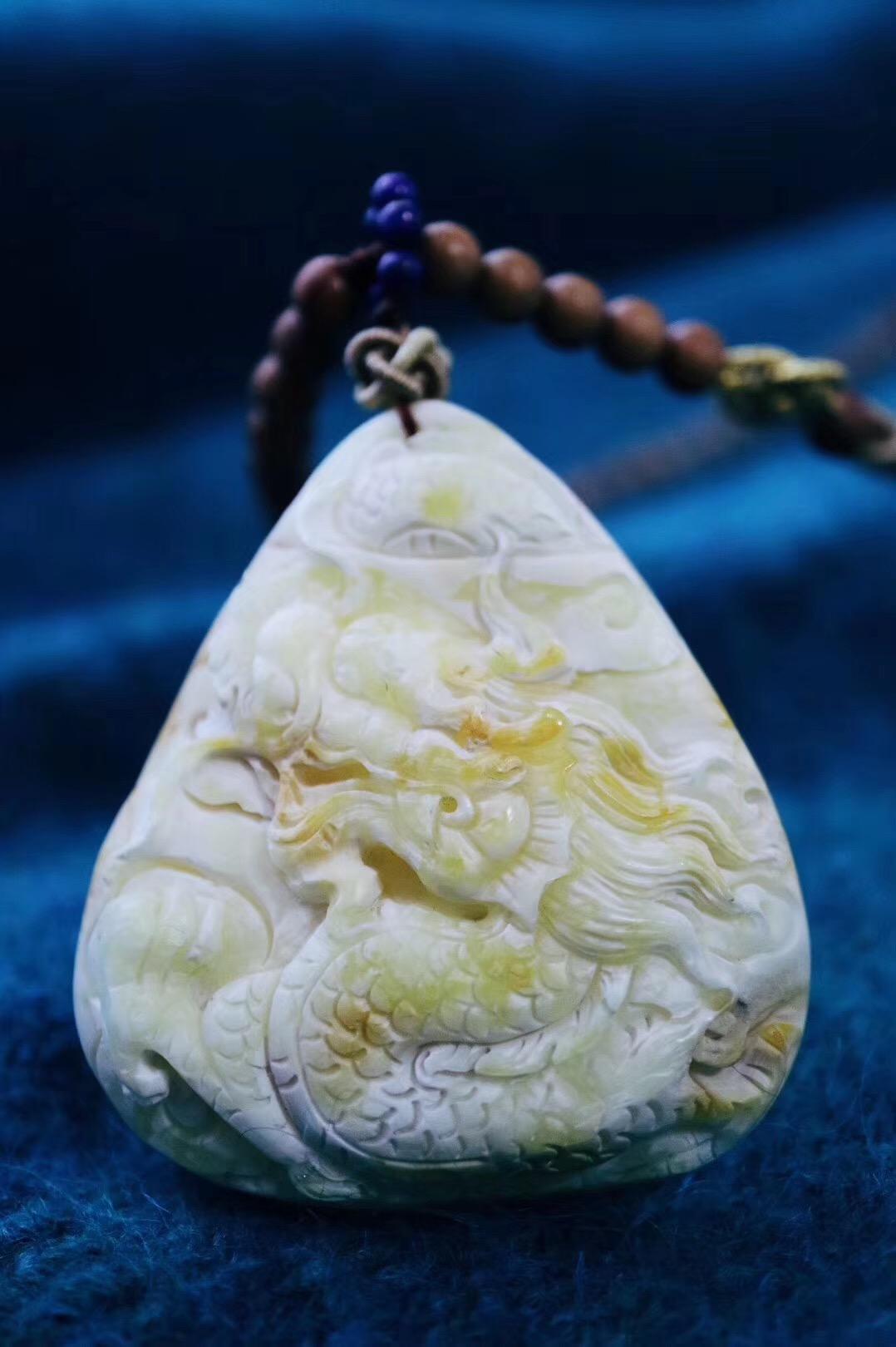【菩心-白蜜&老山檀】极品白花蜜蜡就是一幅画-菩心晶舍