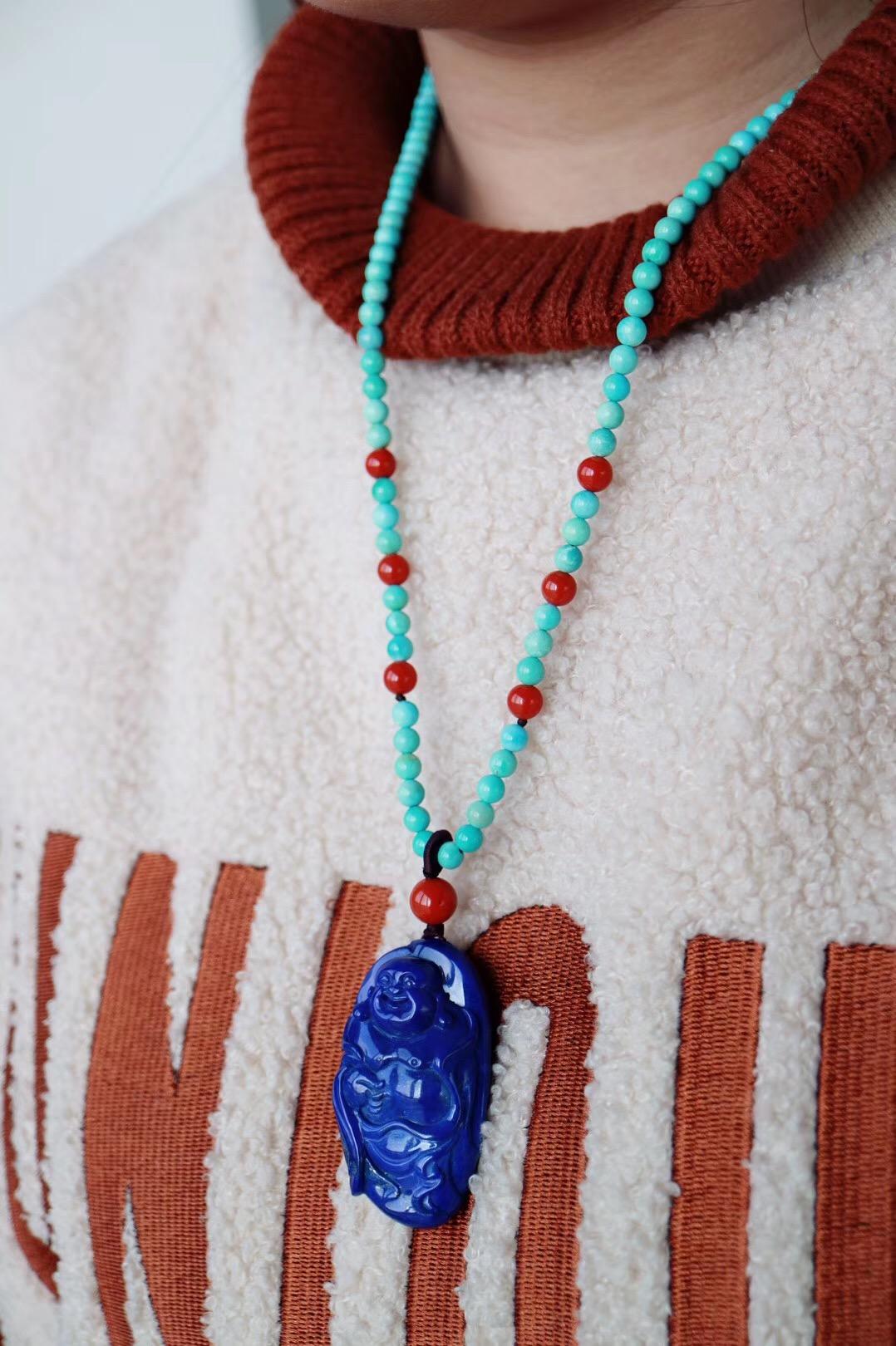【菩心老矿青金石   绿松石】平平安安一直是我们的美好祝愿-菩心晶舍