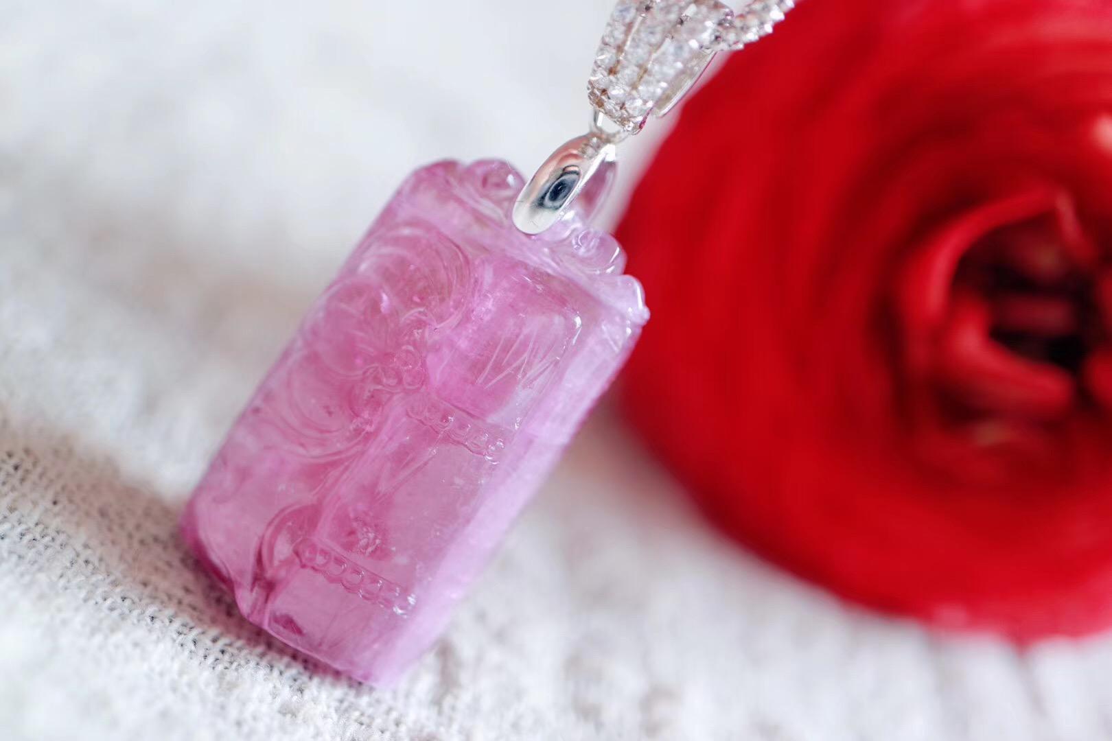 【菩心   红碧玺】红碧玺,美容养颜,对女性内分泌有很好的调节作用-菩心晶舍