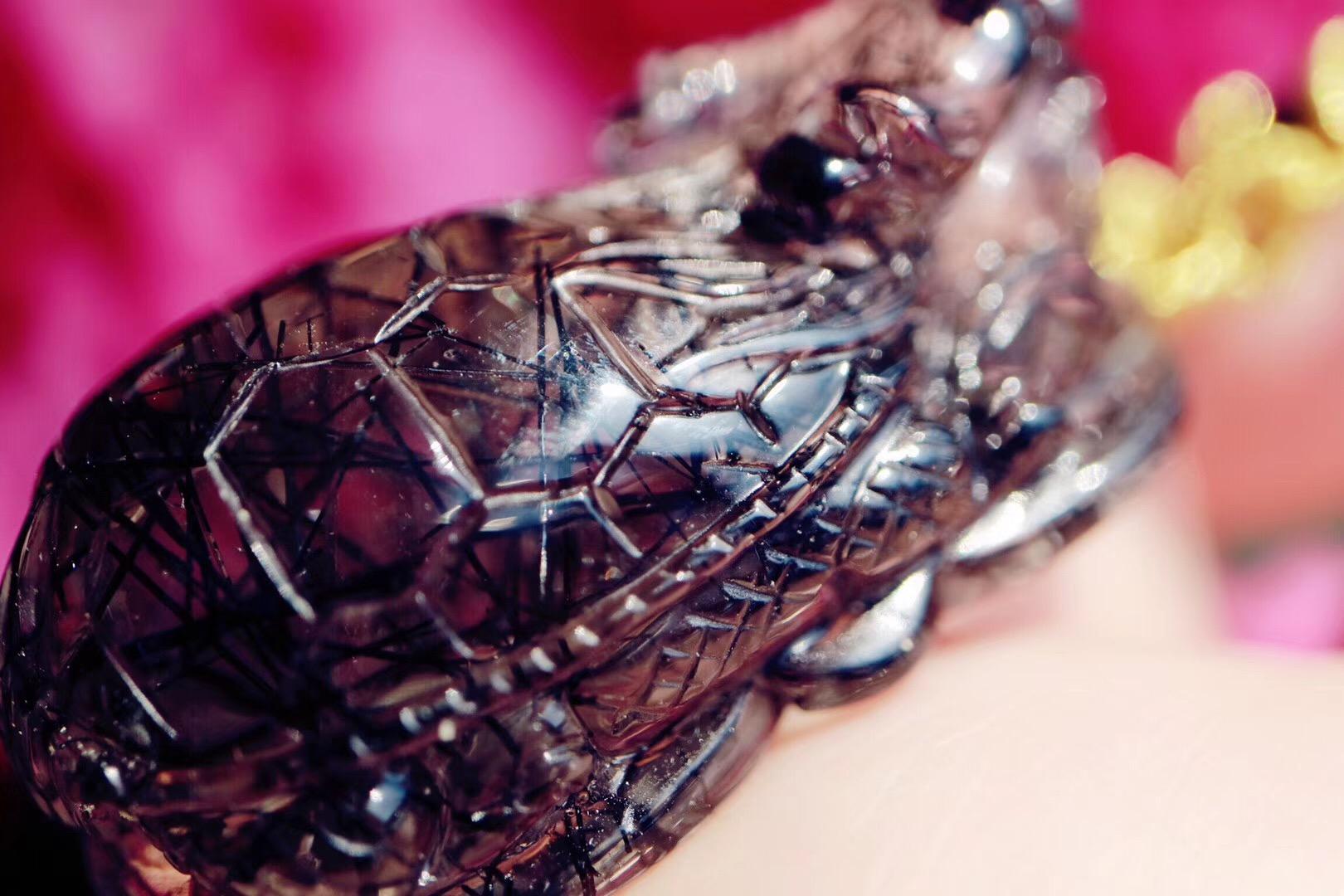 【菩心黑发晶 | 龙龟】龙龟寓意长寿吉祥-菩心晶舍