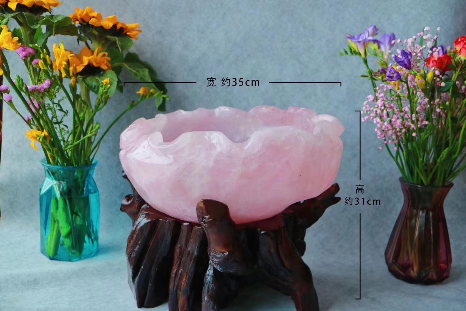【菩心-收藏版天然粉晶聚宝盆】放得下你在菩心收的所有晶石哦~-菩心晶舍