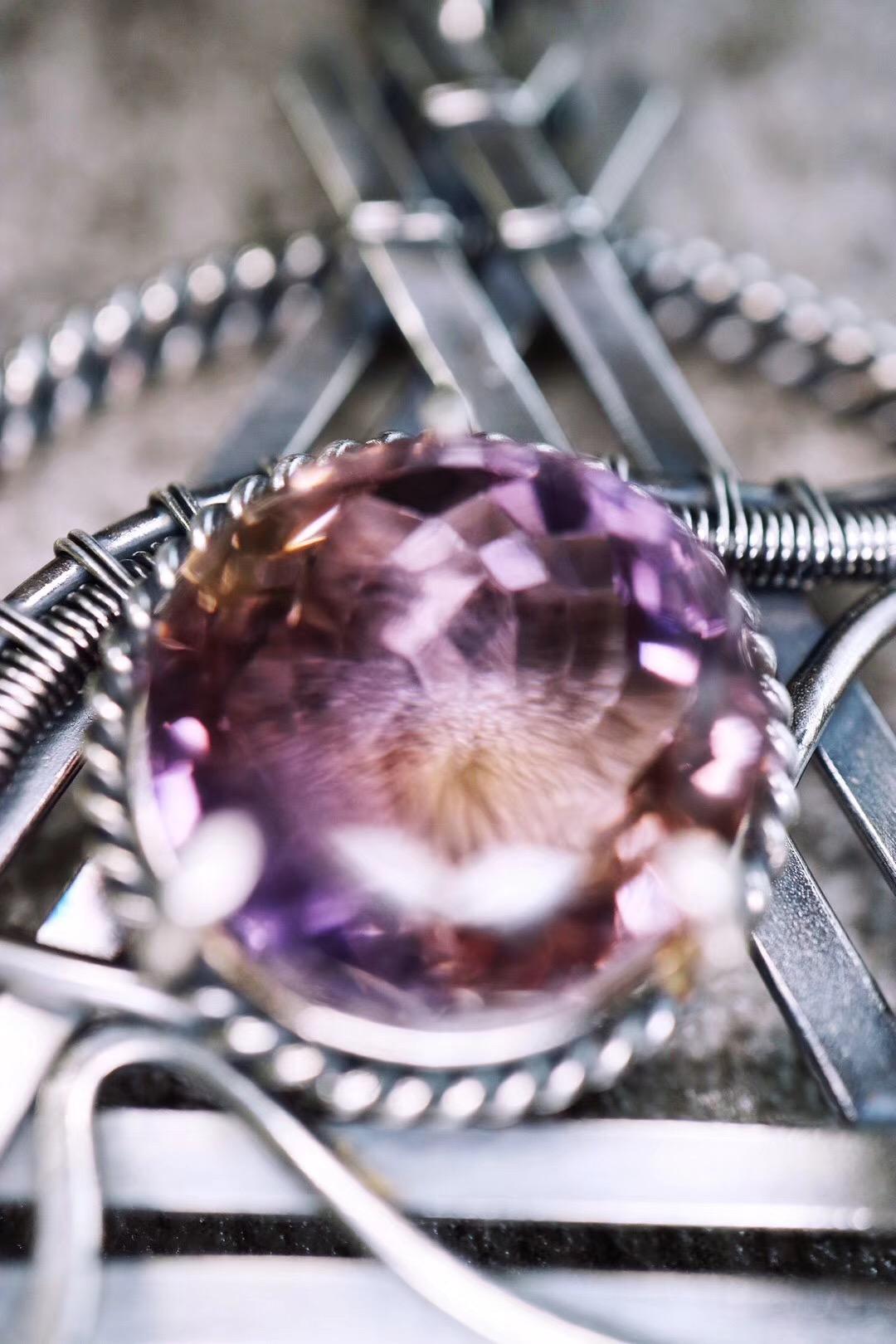 【菩心-紫黄晶】奉上一枚智慧之眼,你也可以叫他空灵。-菩心晶舍