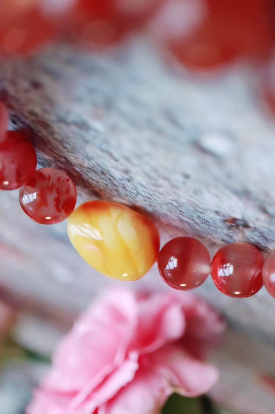 【南红冰飘】 冰地飘红,简称冰飘,南红之中最灵韵!-菩心晶舍