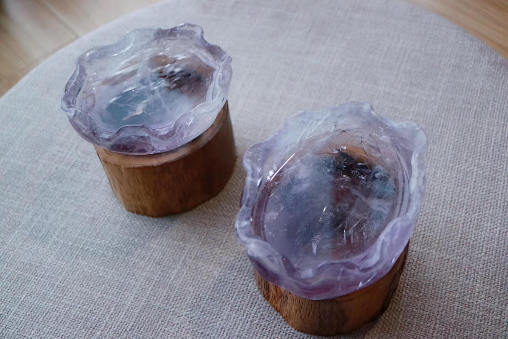 【菩心 | 紫晶盆】一见倾心的薰衣草紫色,恬静又不失神秘感-菩心晶舍
