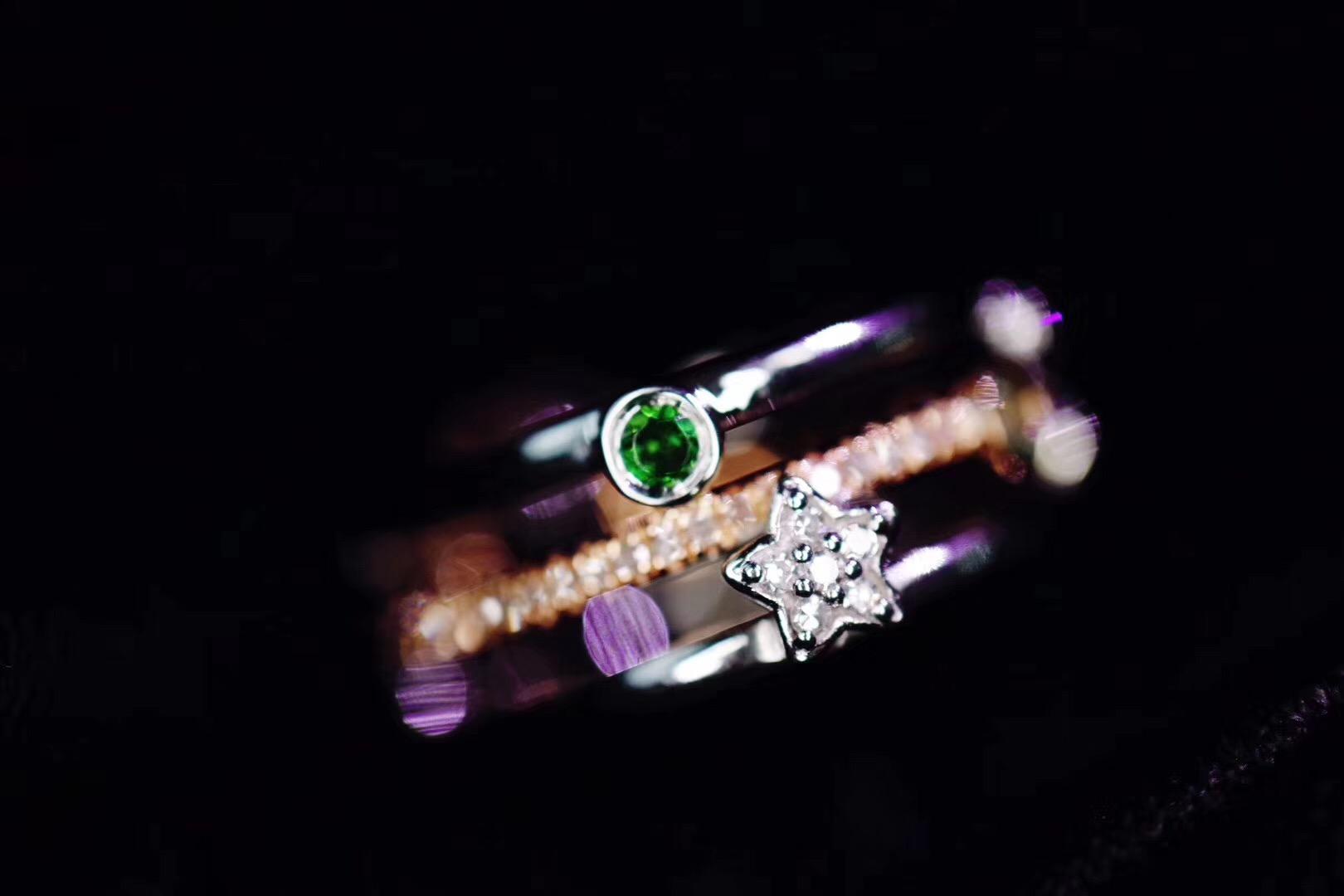 【菩心-碧玺白金钻戒&♎️天秤座】这是一枚流星戒,360度可戴,不需纠结-菩心晶舍
