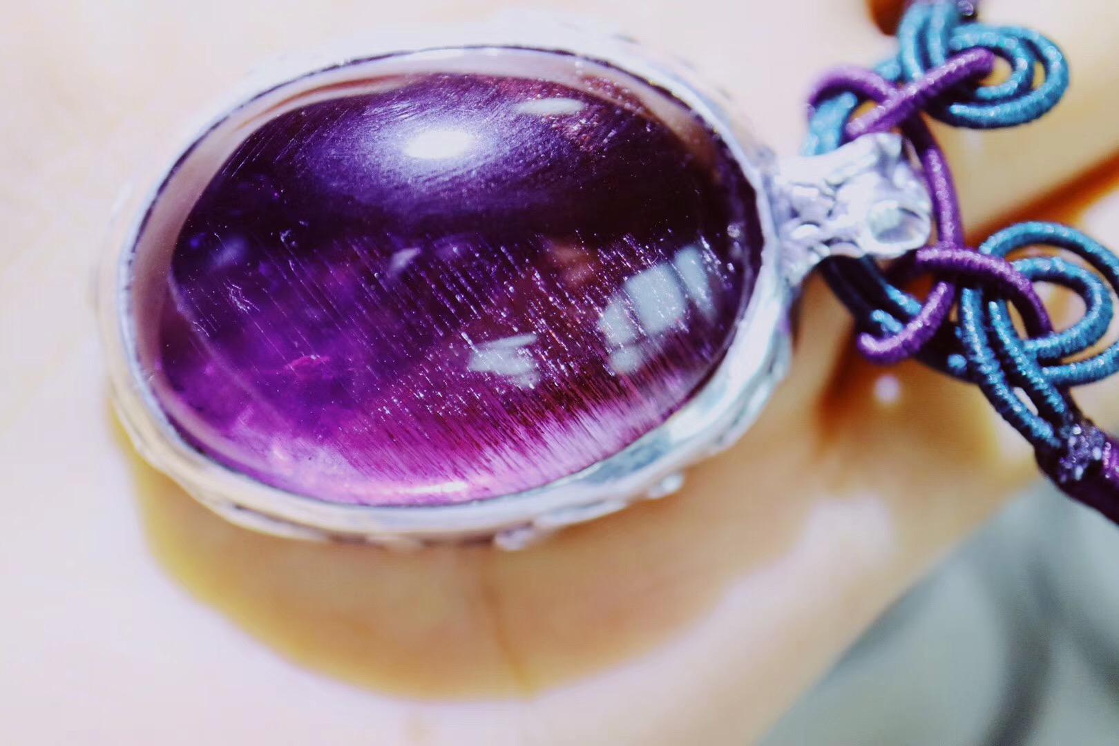 【菩心-紫发晶&捷克陨石】配合捷克陨石对晶石的净化和增大功效-菩心晶舍