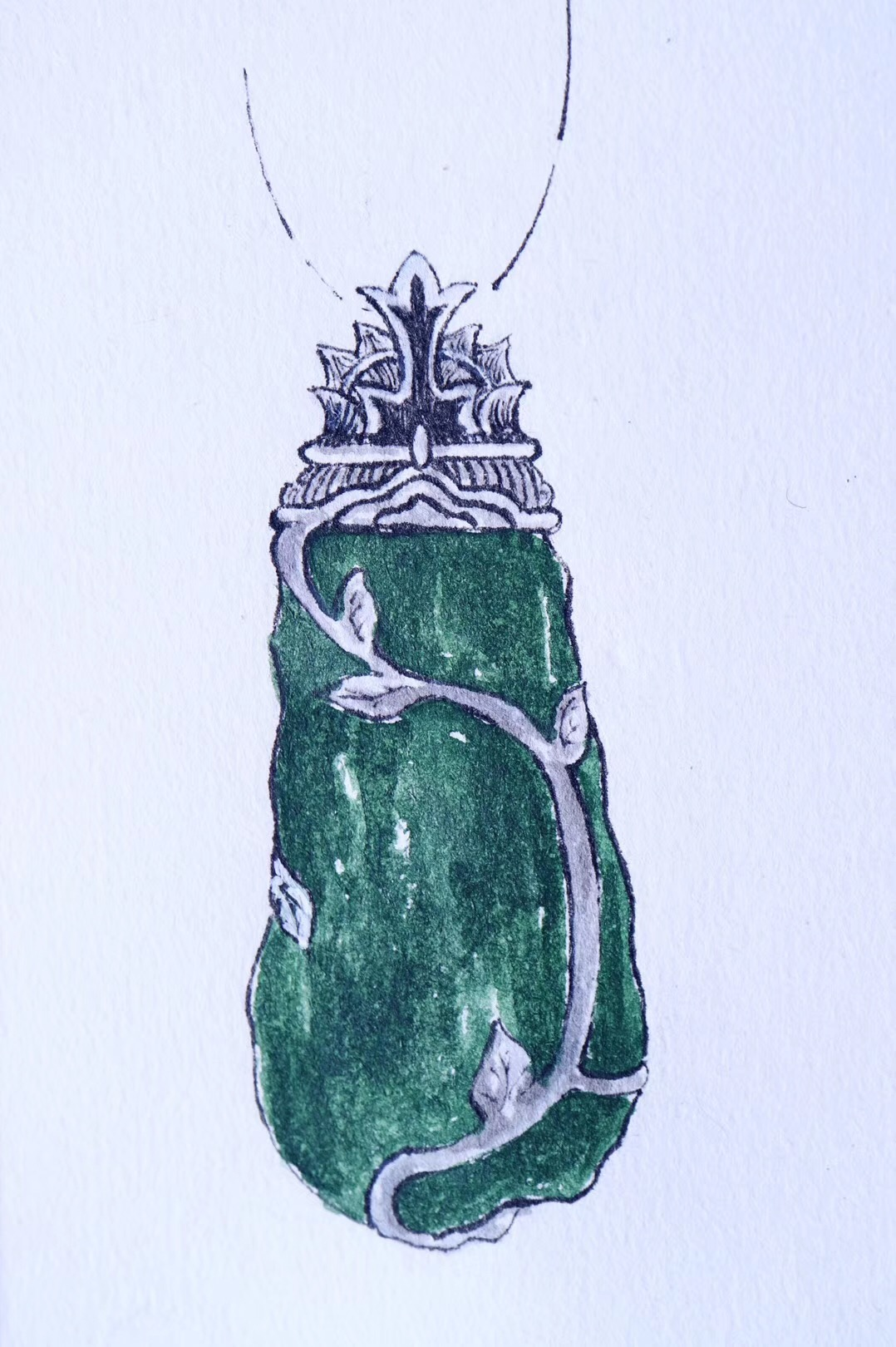 【菩心·捷克陨石】这一枚捷克陨石设计,名为心路。-菩心晶舍