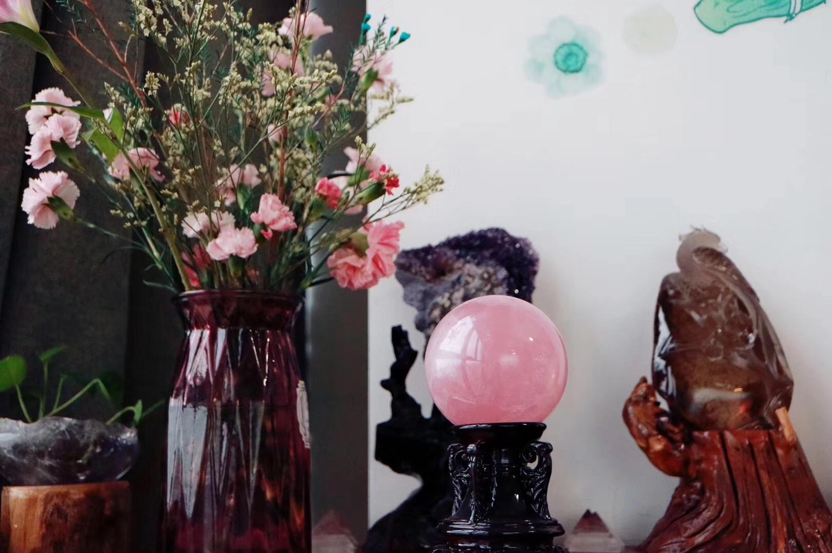 【🌟粉晶球 | 菩心】只愿每一天都温柔的爱的磁场温暖着~-菩心晶舍