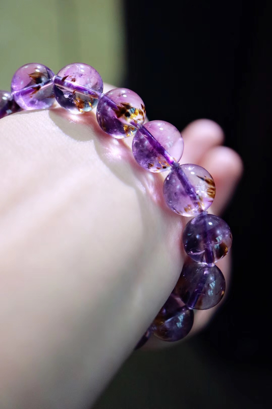 【极品紫钛晶】 钛晶和紫晶的共生体,能量更加强大-菩心晶舍
