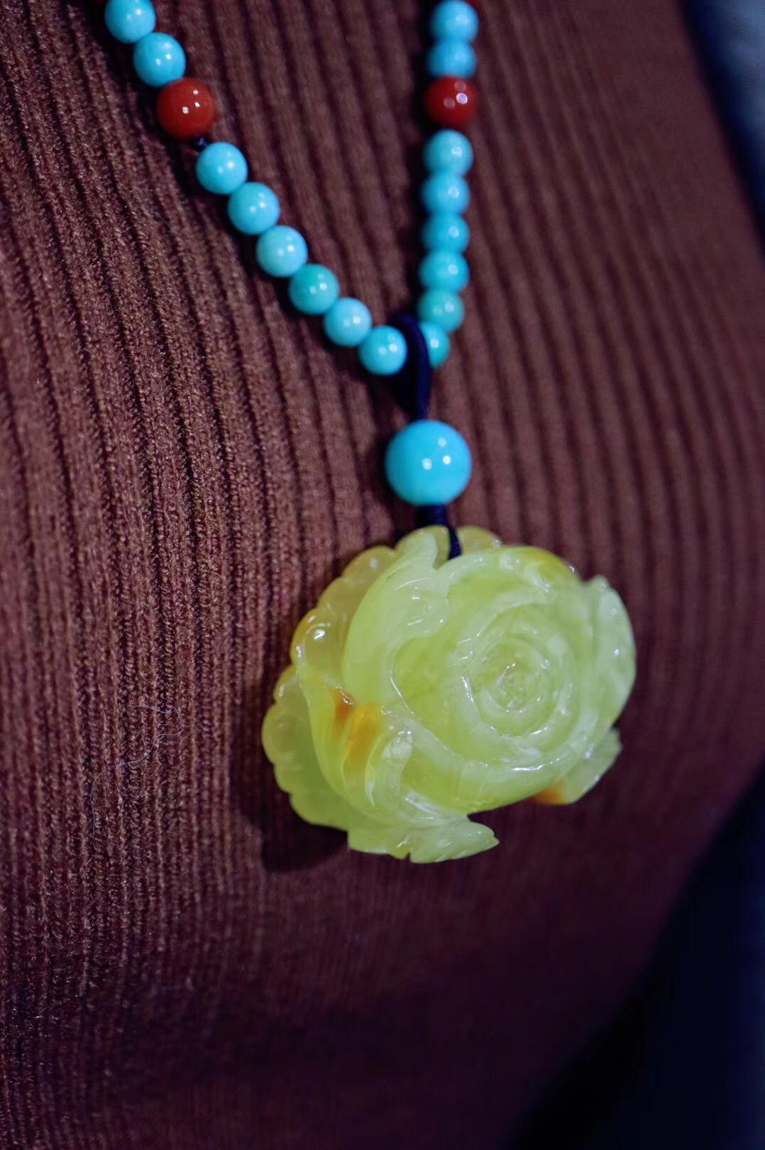 【原矿绿松石】把玩原矿绿松石会让我们的内心静下来-菩心晶舍