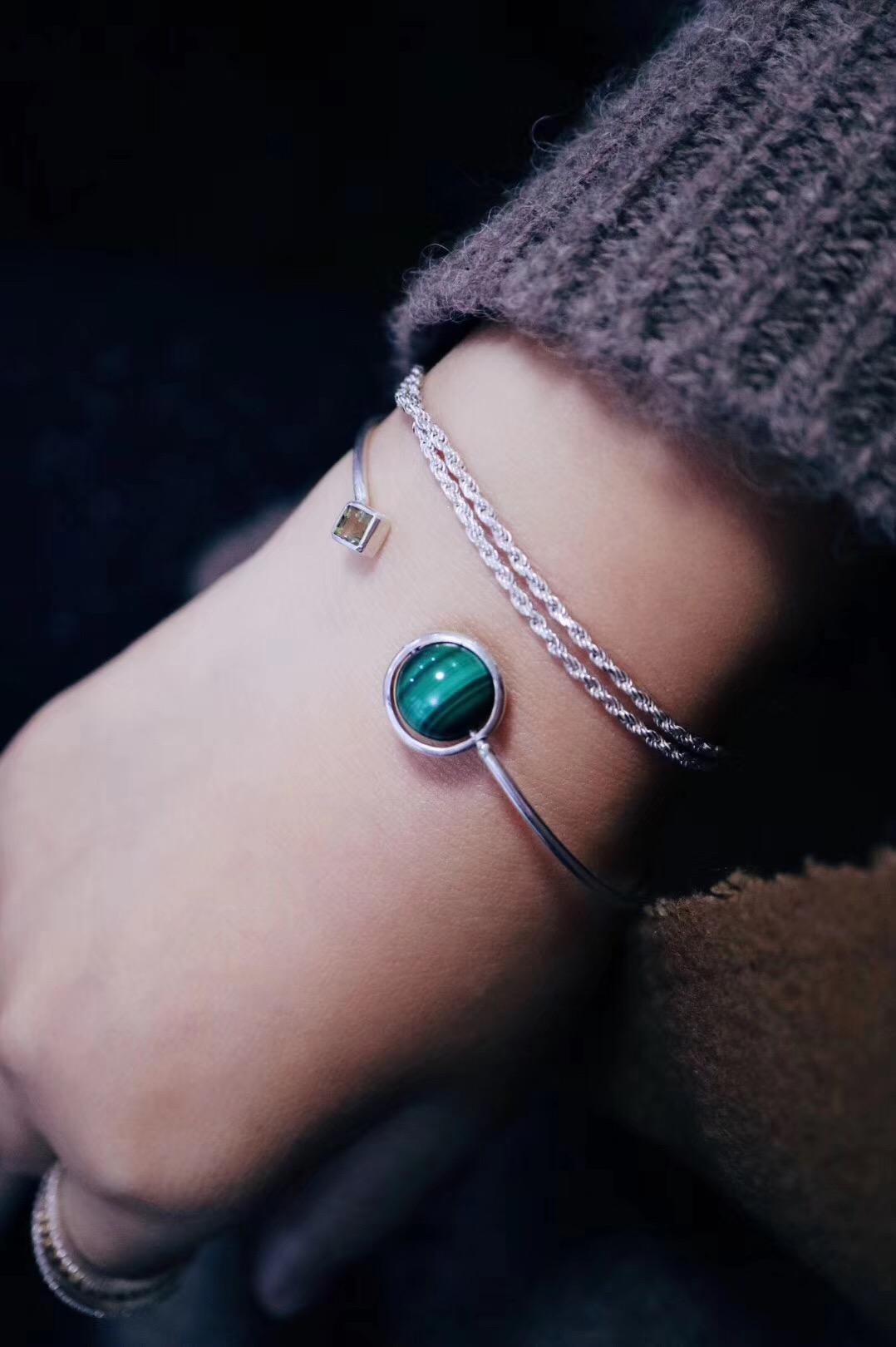 【菩心-孔雀石手环】木星是射手座的守护星,属于占星中的第一大吉星-菩心晶舍