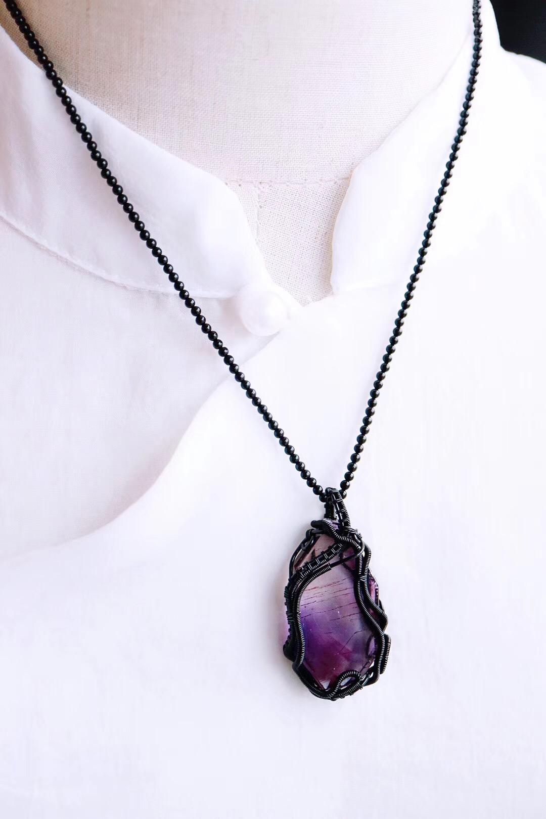 【菩心   超七紫发晶】随形的紫发晶更加自然有个性,梦幻-菩心晶舍