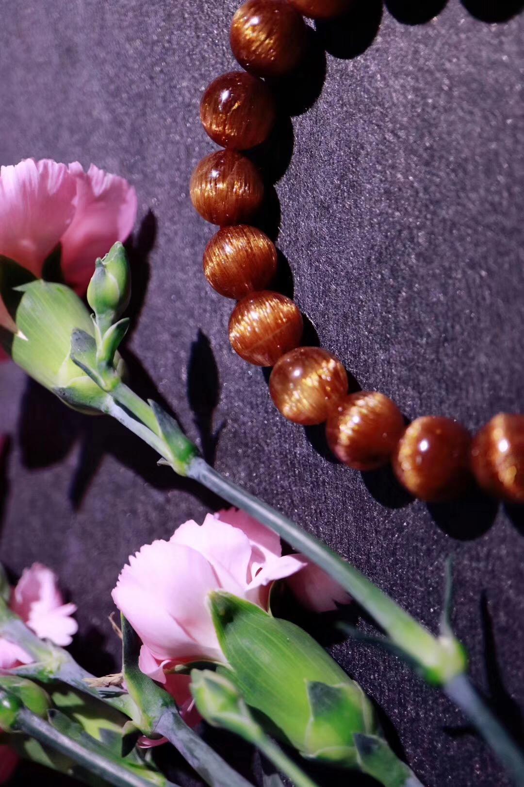 【菩心铜发晶】佩戴铜发晶,寓意富贵、吉祥、有朝气-菩心晶舍