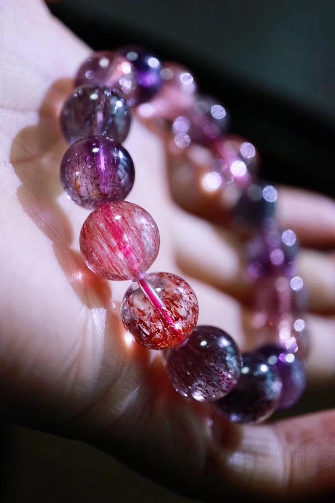 【菩心   超七紫发晶】每一个能量中心都可以被它平衡调整-菩心晶舍