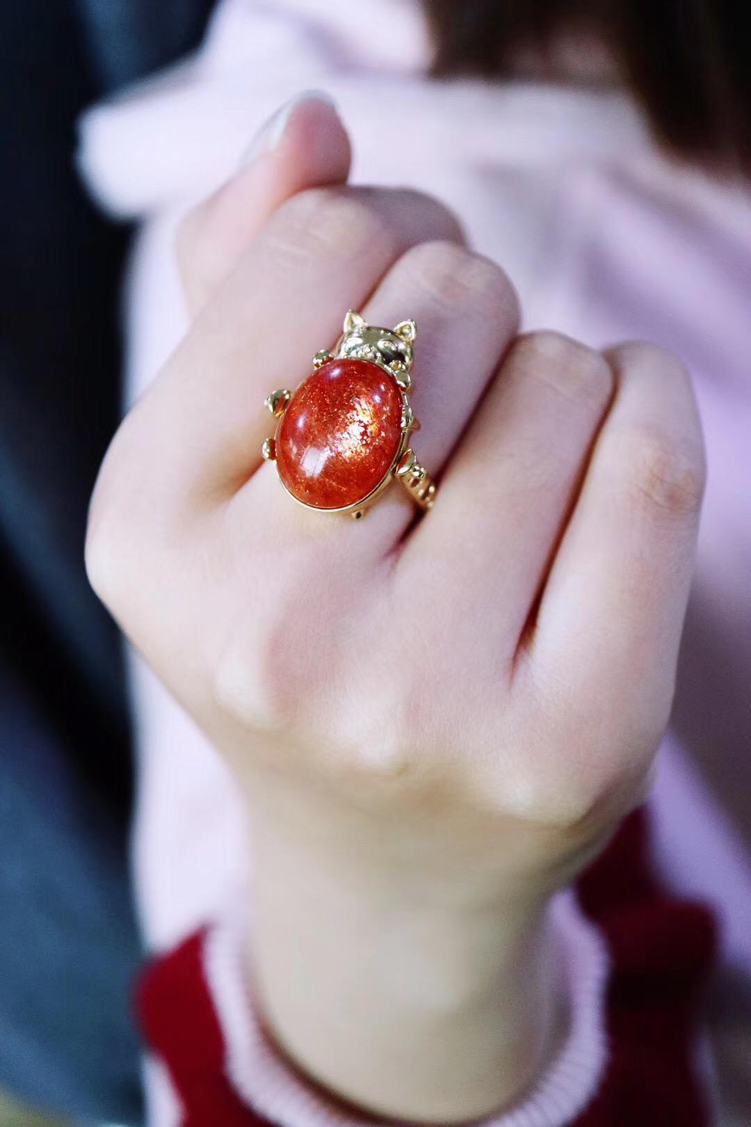 【菩心-太阳石&吊坠戒指两用】这只小可爱,久等了。-菩心晶舍