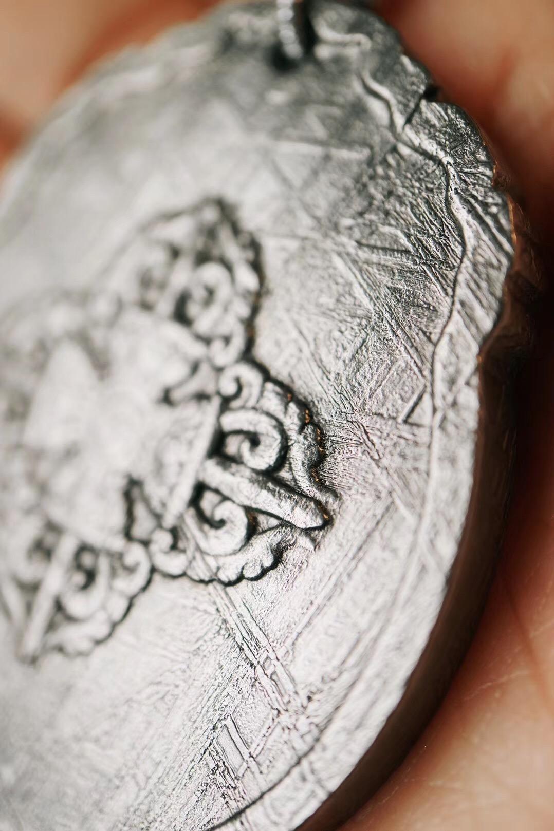 【菩心-陨铁·九宫八卦图】镍铁陨石拥有非常强且刚猛的能量-菩心晶舍