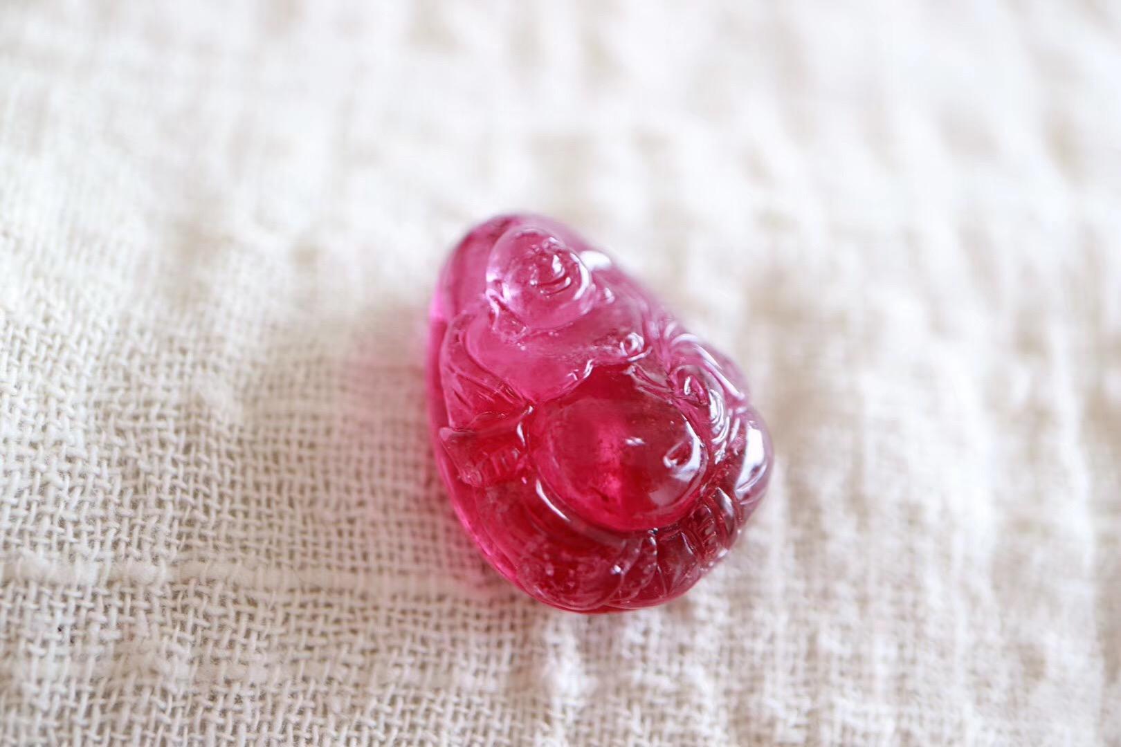 【菩心红碧玺】一枚喜庆的弥勒佛助你散发内心的自在喜悦-菩心晶舍