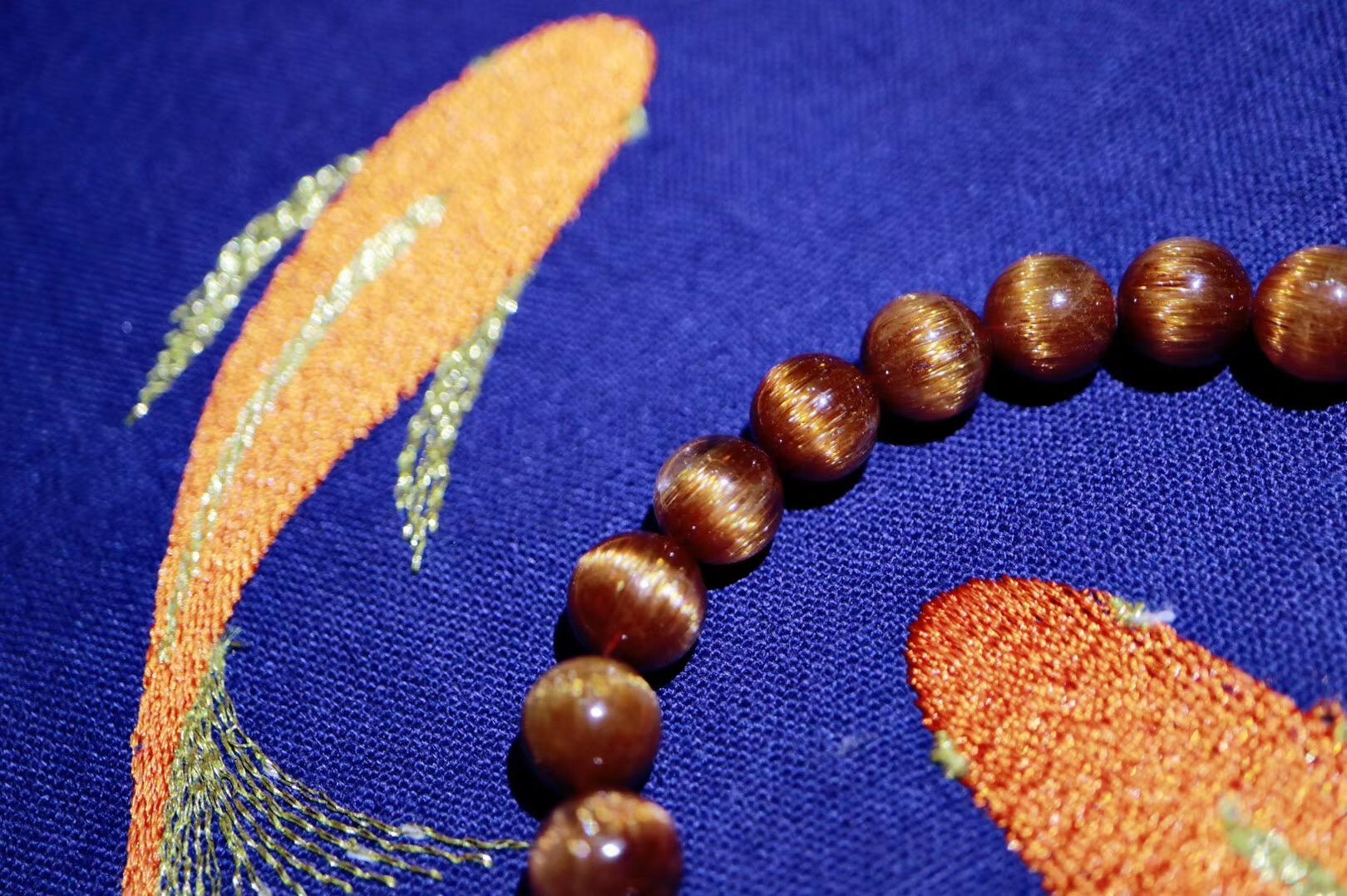 【菩心铜发晶】铜发晶是非常好的护身符、平安符,可吸收掉一切负面能量-菩心晶舍