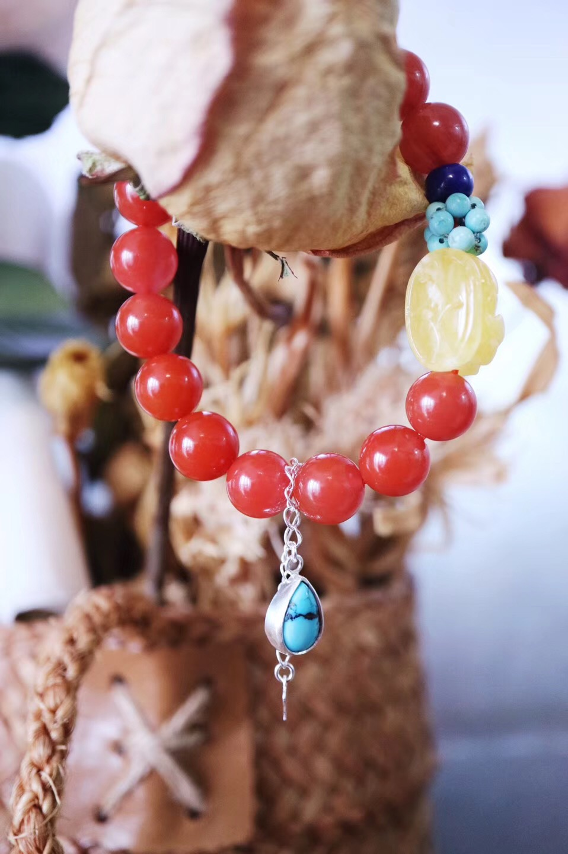 【菩心❤️-南红玛瑙多宝】这一抹南红,便是冬日里不可多得的温暖。-菩心晶舍