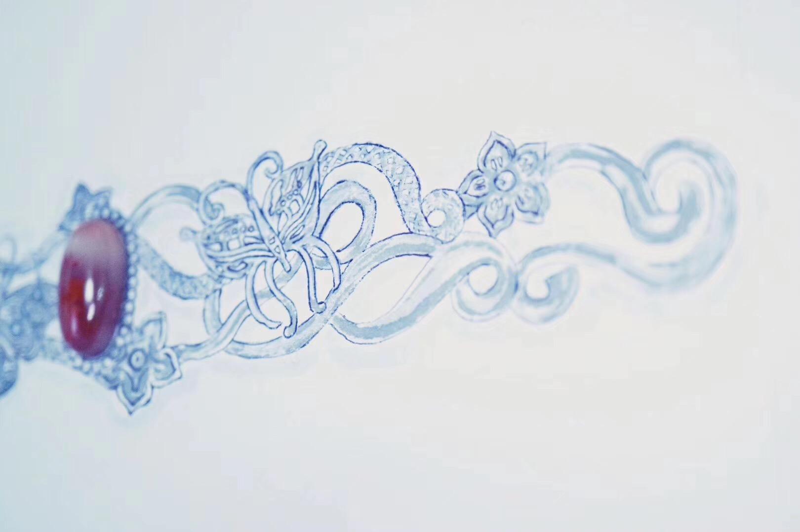 南红镯子的特别设计,期待看到实物和Cosplayer对它的演绎-菩心晶舍