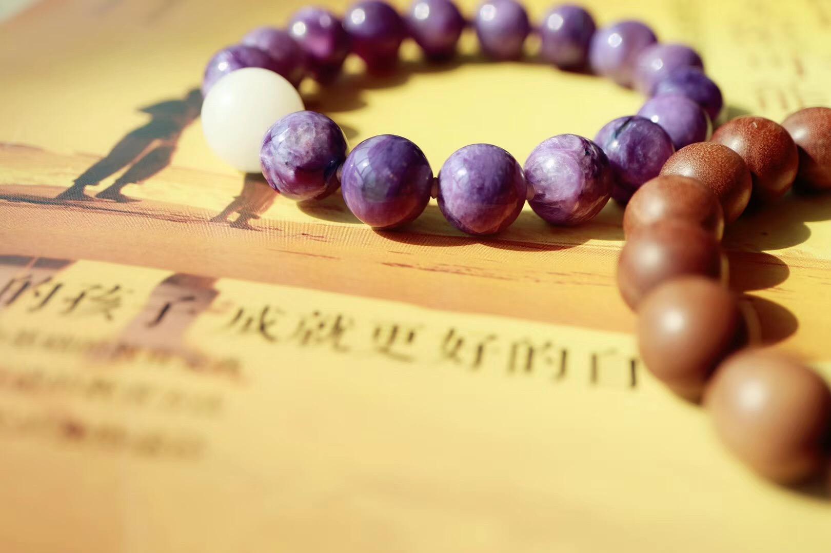 【紫龙晶   老山檀】紫龙晶有助于开发智慧,带来慈悲、灵性与幽默-菩心晶舍