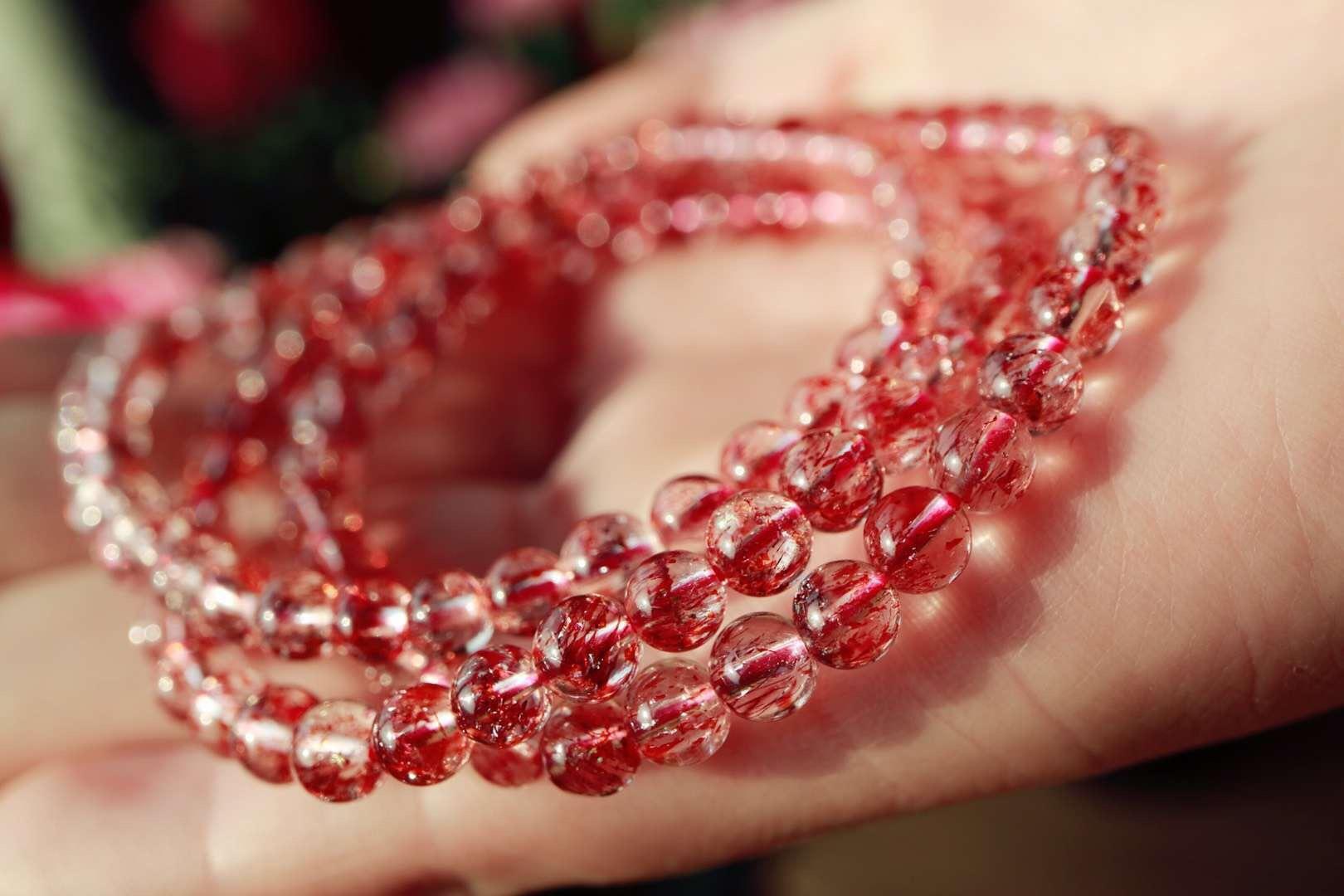 【菩心超七金草莓晶】阳光下的金草莓晶俨然是一道风景~~-菩心晶舍