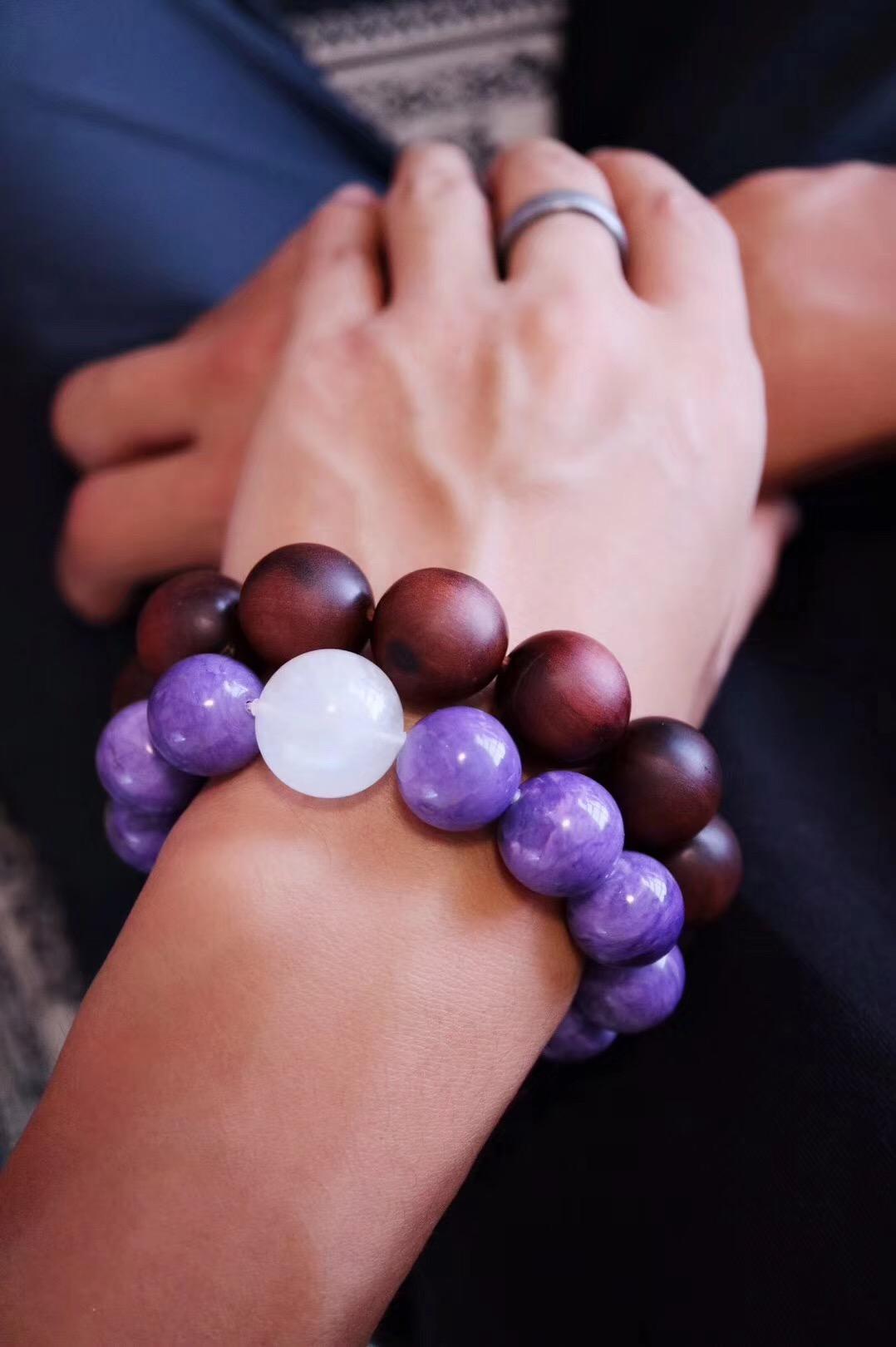 【紫龙晶 月光石】 这是慈悲的晶石-紫龙晶-菩心晶舍