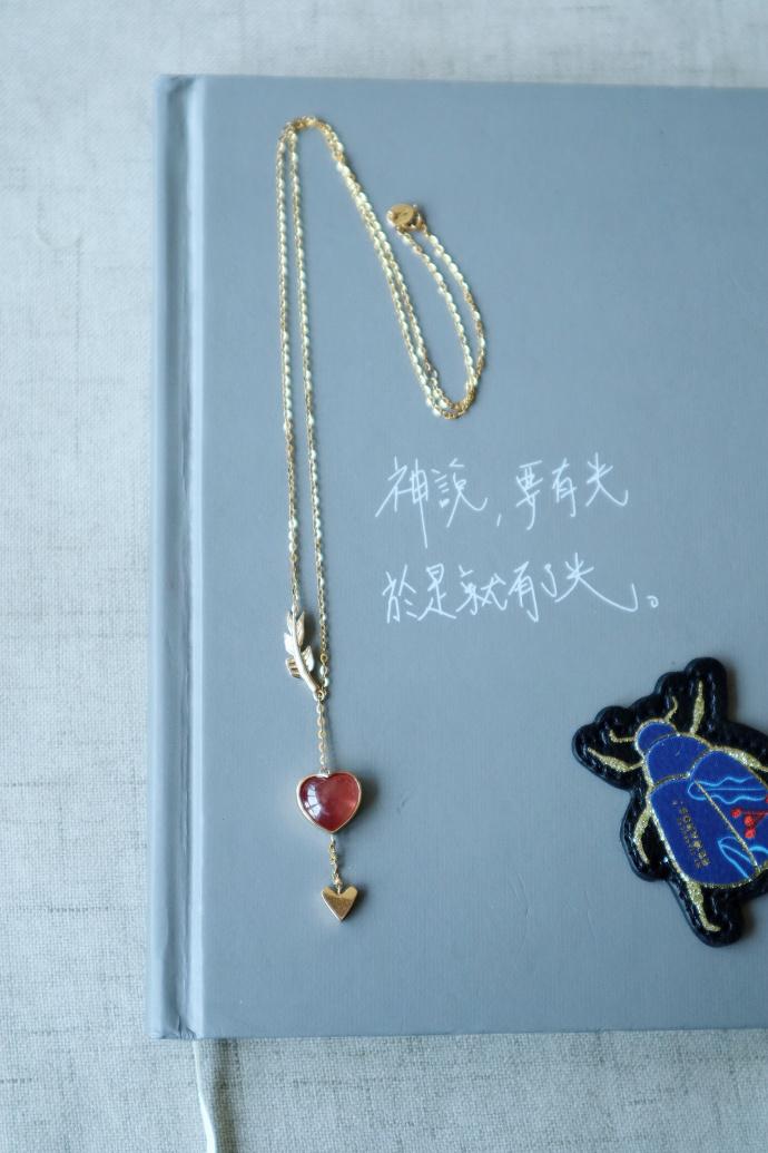 【红纹石|18k金】-丘比特之箭-菩心晶舍