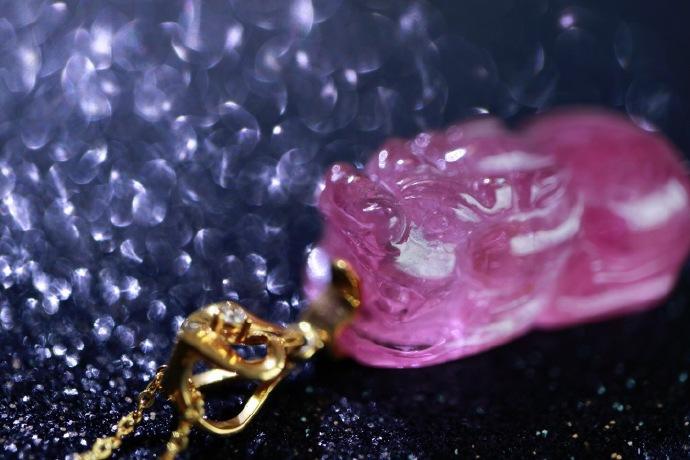 【猫眼粉碧玺 | 18k】 灵气十足的美物,给大家提提神~~-菩心晶舍