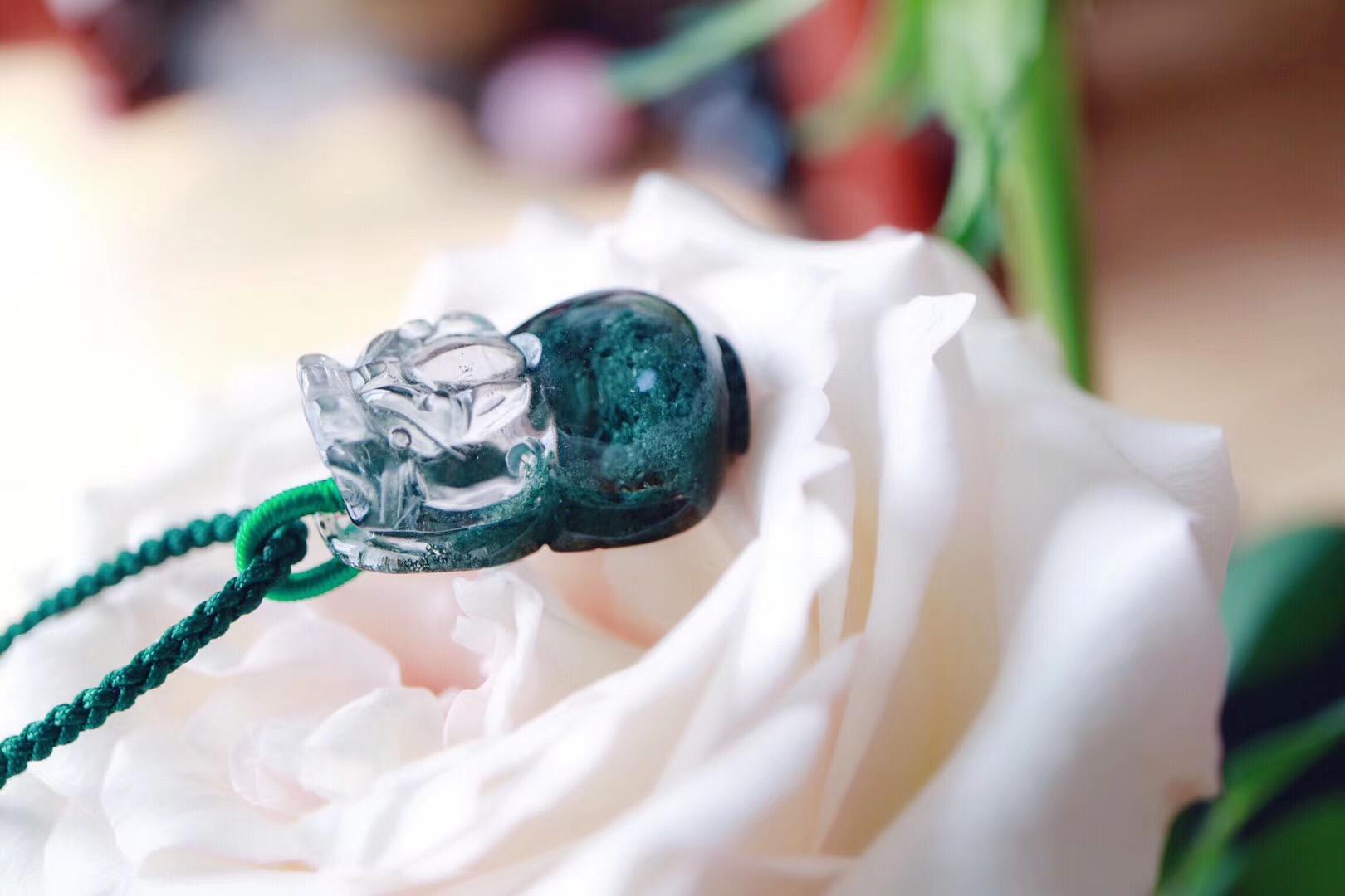 【菩心   绿幽灵】墨绿色的绿幽灵代表着大地对心轮的强力疗愈-菩心晶舍