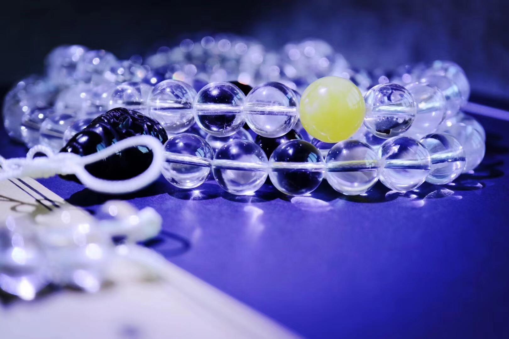 【菩心·白水晶-念珠📿&手感超赞】只觉得唇上印了一记凉如清露的吻-菩心晶舍