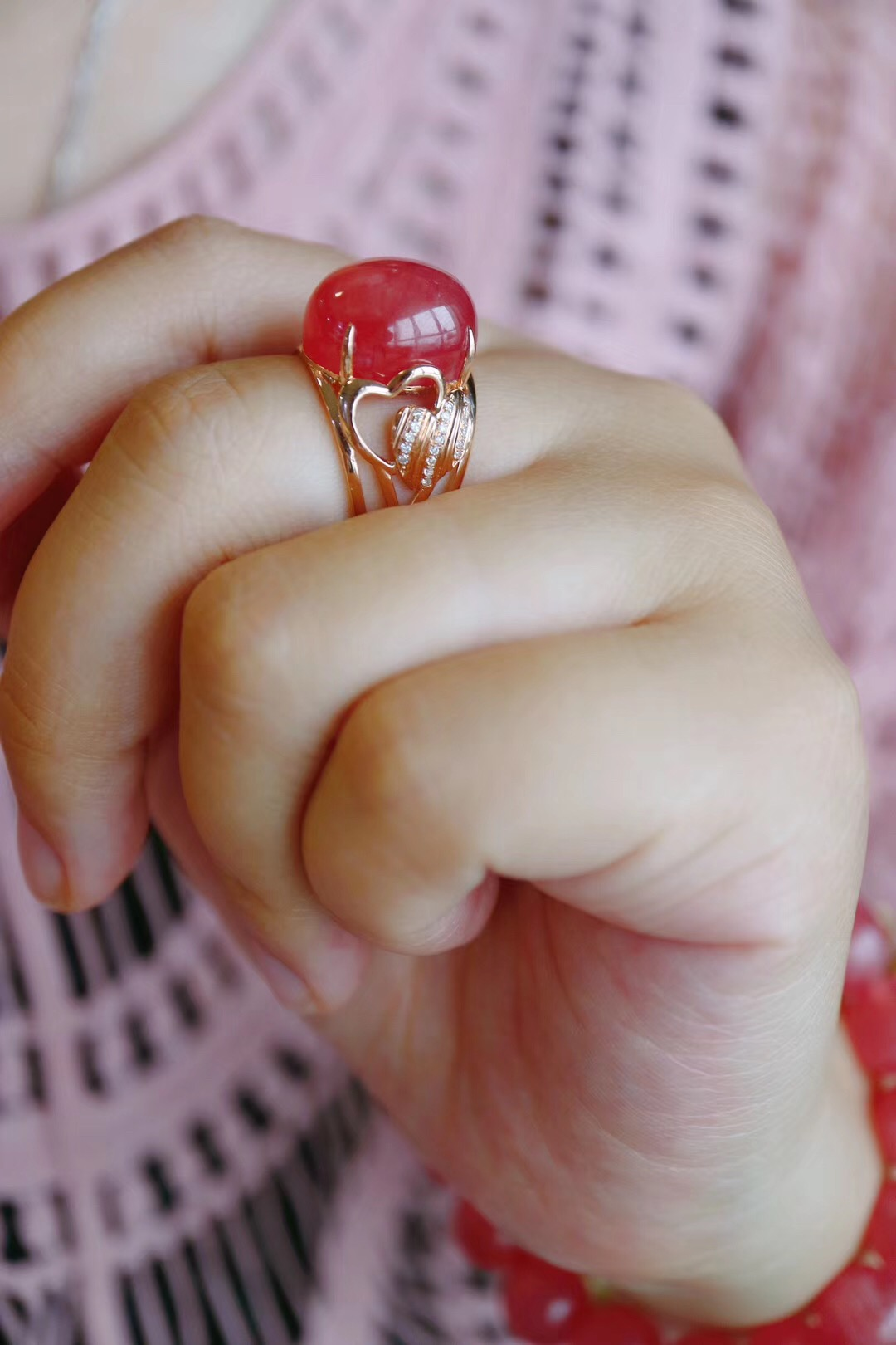 【菩心-红纹石戒】从某一瞬间出发, 去尝试一种永恒。-菩心晶舍