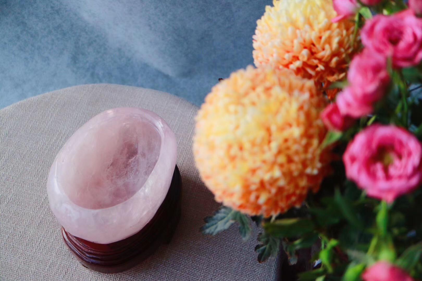 【菩心 | 粉晶盆】红入桃花嫩,春归柳色新-菩心晶舍