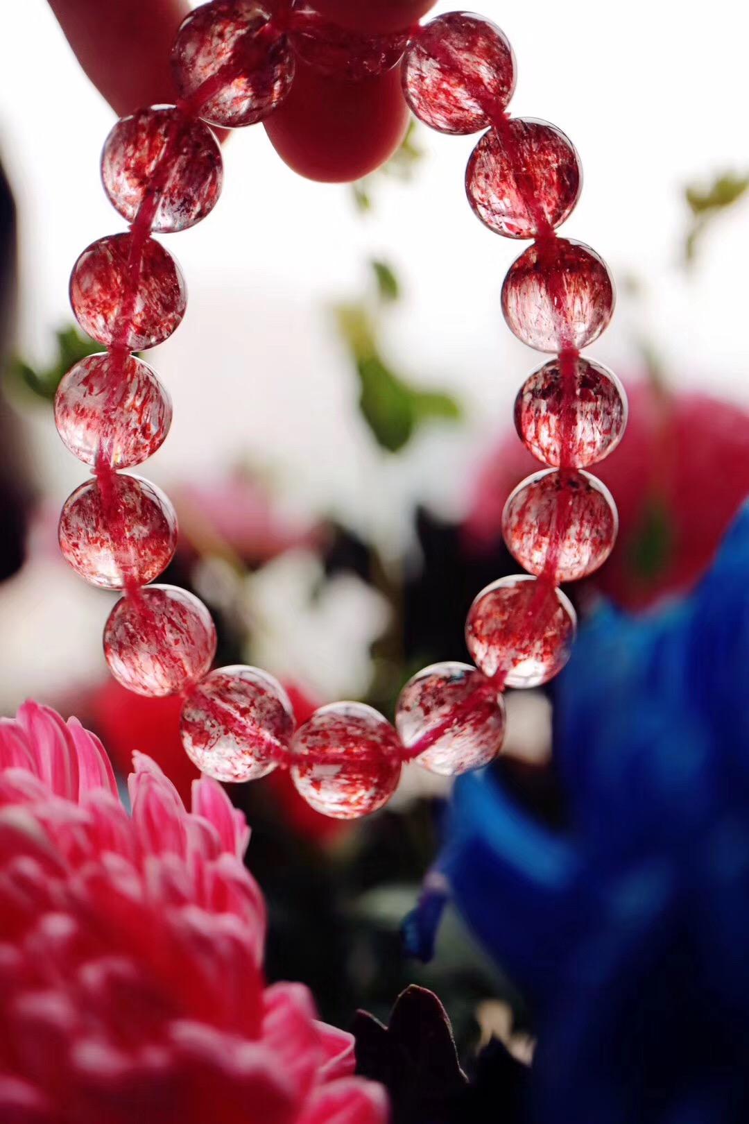【菩心   超七金草莓晶】倘若有爱有暖相随,便会一路花香满径-菩心晶舍