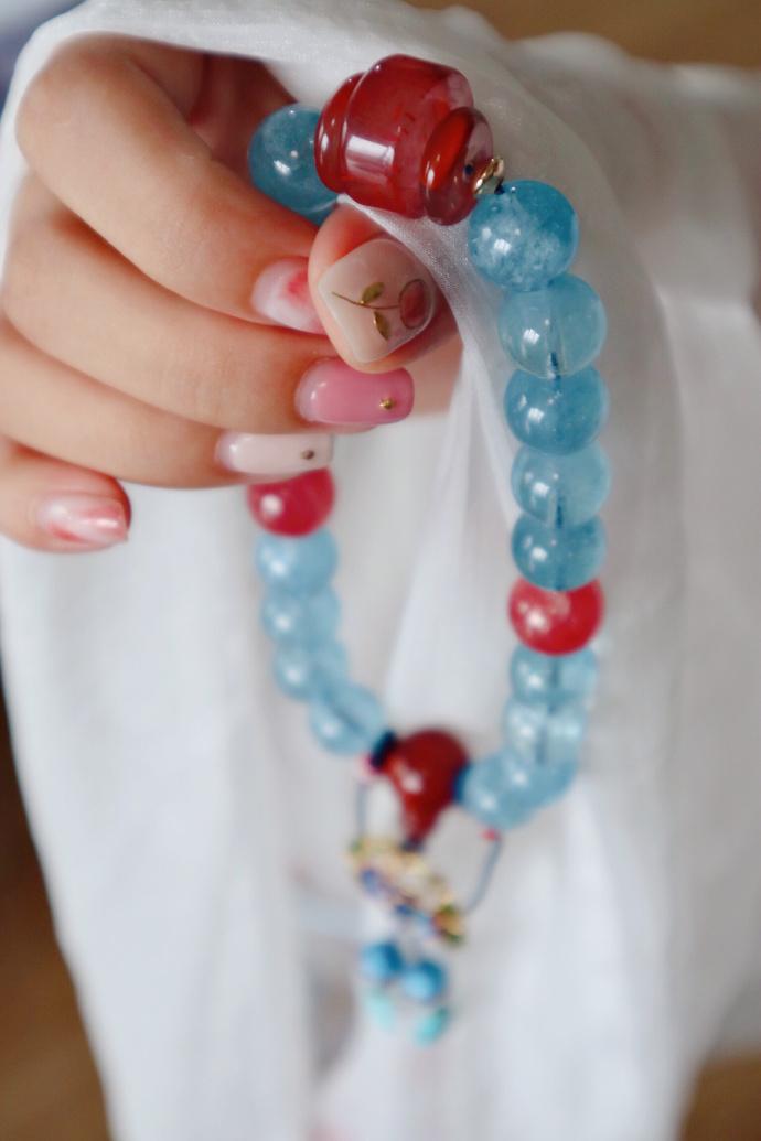 【十八子|海蓝宝】 十八子手串,是念珠中的一种。-菩心晶舍