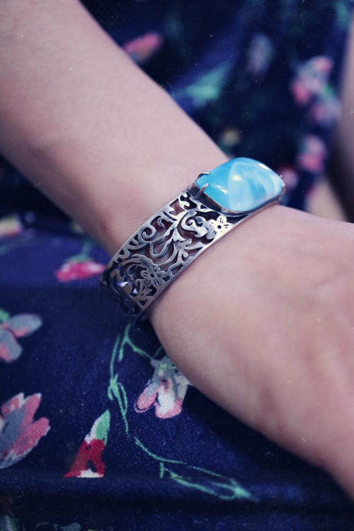 【海纹石|兰花镯】钏之于古代女子,那是不可方物的美-菩心晶舍