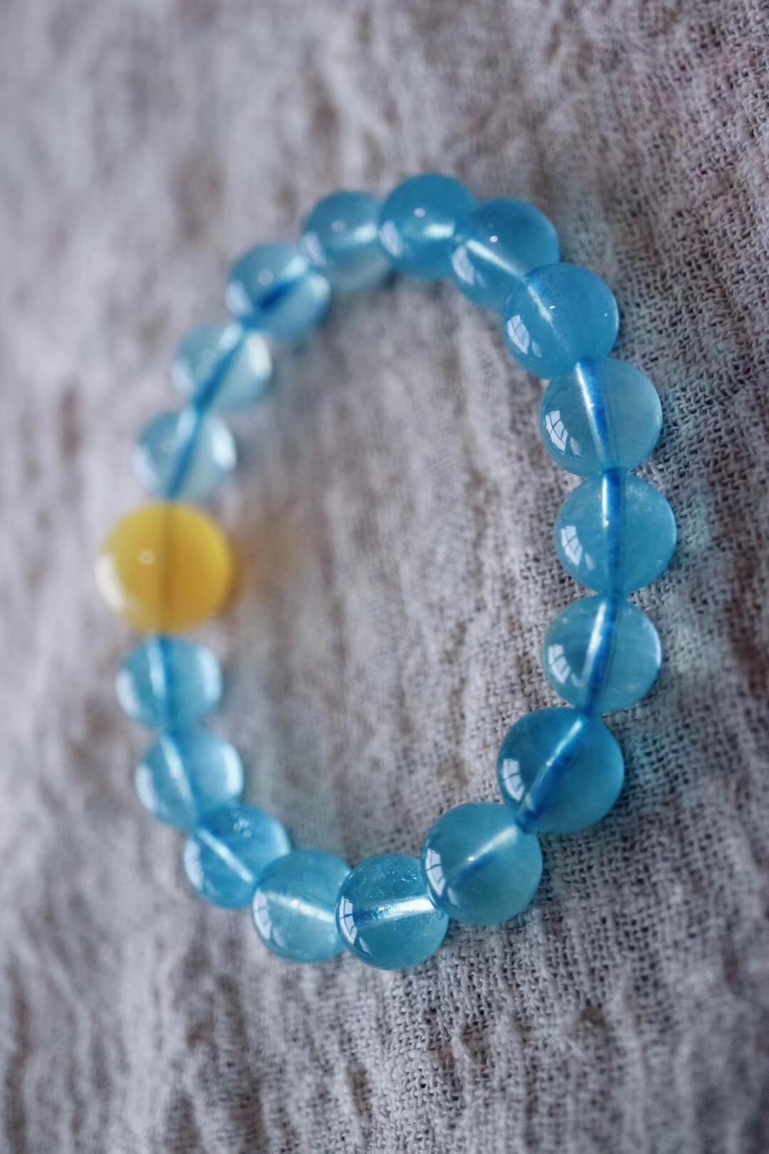 【菩心 | 海蓝宝】金牛座的幸运石,也是五行喜水宝宝们的专属晶石-菩心晶舍